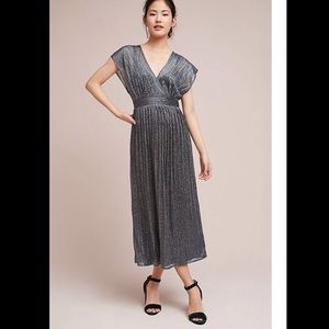 Pleated Metallic Wrap Dress by Moulinette Soeurs